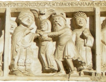 Geminiano performing an exorcism on Emperor Jovian's daughter